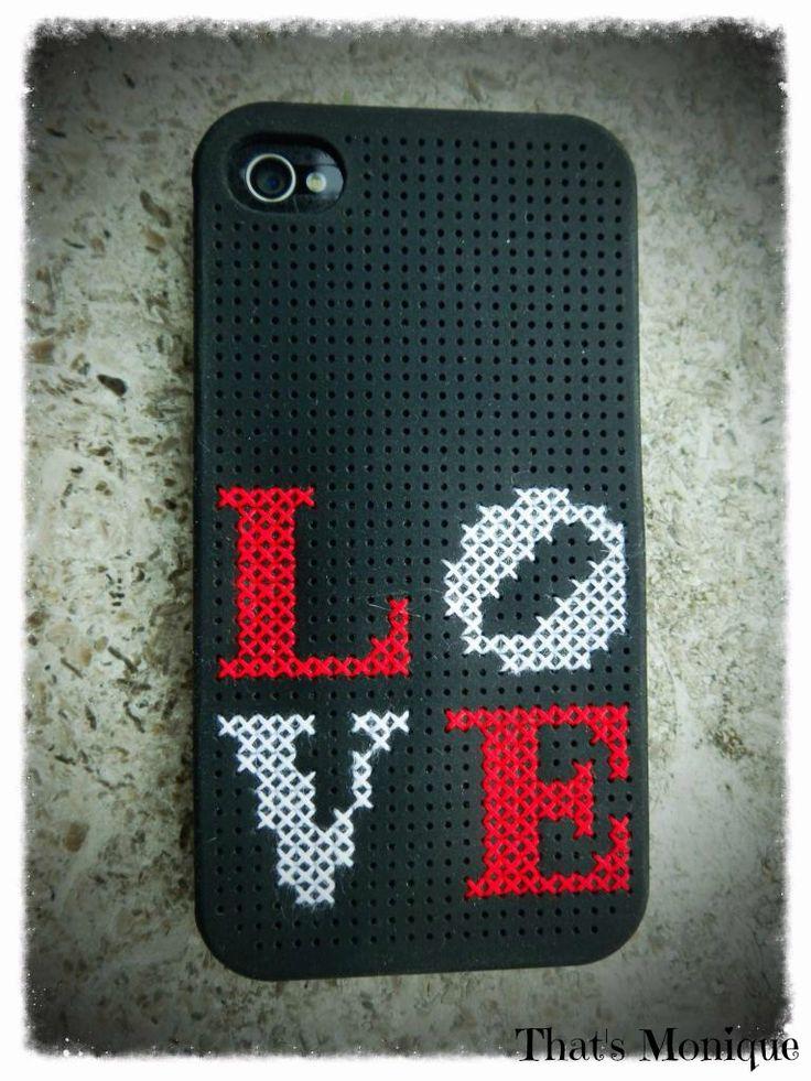 Cross Stitch iPhone case #diy love