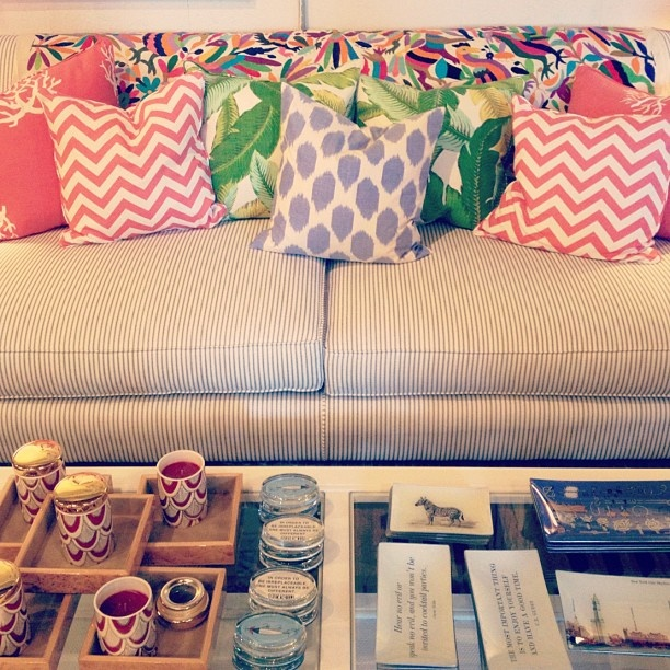 Collection of colorful pillows