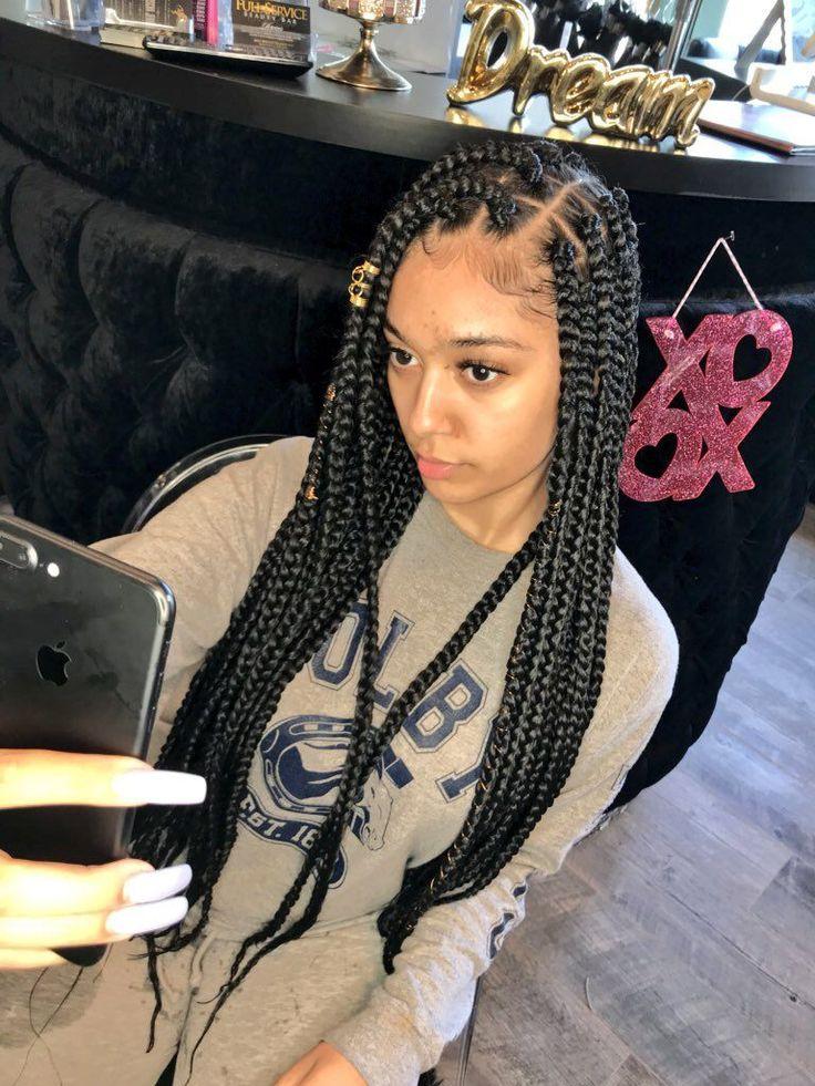 ⊱byesamir⊰ Box Braids Styling Natural Hair Styles