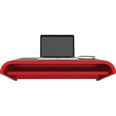 "Orange22 Minimal Floating Desk Finish: Satin Red (Paint), Size: 10"" H x 51"" W x 16"" D"