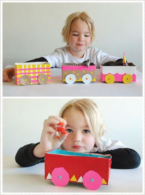 Réaliser un train pour enfant avec des boîtes de thé recyclées ! # Pinterest++ for iPad #