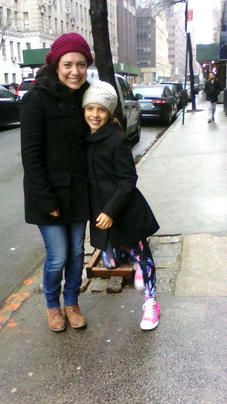 Carolina y Hannah, mi compañía en Nueva York.