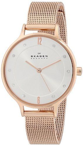 "Skagen Women's SKW2151 ""Klassik"" Rose Gold-Tone Stainless"