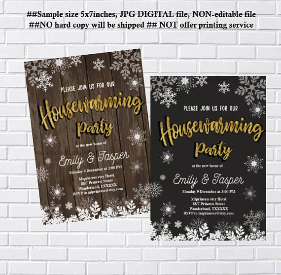 The 25 best housewarming invitation cards ideas on pinterest housewarming invitation party invites new house winter stopboris Image collections