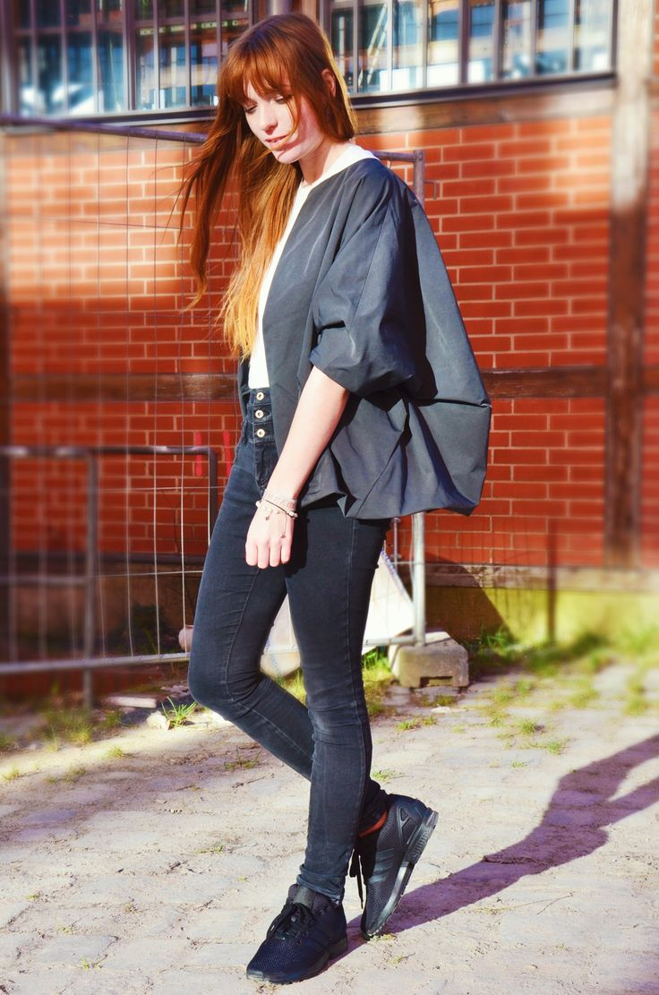 Outfit: Big big COS jacket and white layers - Spark and Bark
