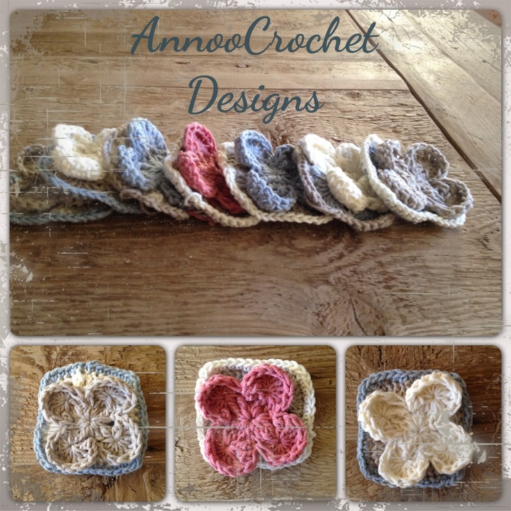 Free Granny Square Tutorial with Pictures love the flower for a little girls crochet afghan