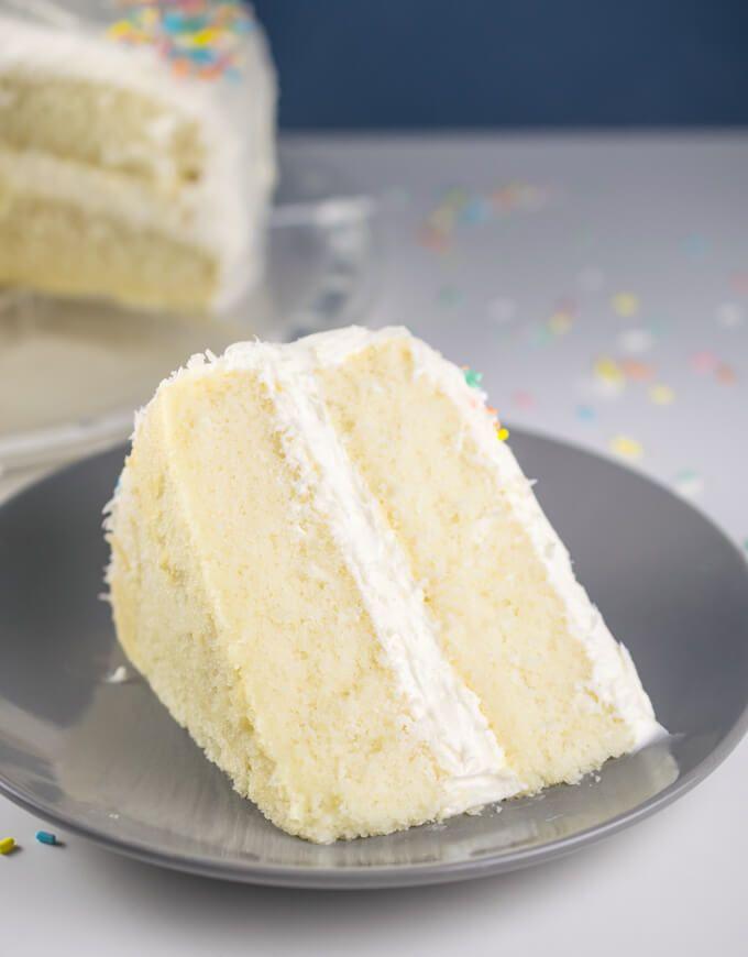 Vegan White Cake Recipe Yup It S Vegan Food Videos Desserts Dessert Recipes Vanilla Cake Recipe