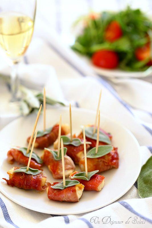Un dejeuner de soleil: Mini bouchées de poulet au jambon façon saltimbocc...