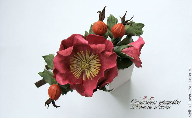 Осень — пора перемен. Переход из зеленого солнечного лета в пушистую белоснежную зиму. Буйство сочных красок, которыми щедро одаряет нас природа, не может не вдохновить. В сентябре плоды дикой розы 'зажигают' красно-оранжевые огоньки. В это время можно одновременно наблюдать цветки, бутоны и плоды. Немногие растения могут сравниться с шиповником по богатству форм, окраске цветов, аромату и продолжительности цветения.