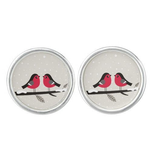 Love Birds original hand-drawn Cufflinks by RosemaryWellnessShop