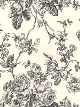 Floral Toile Wallpaper