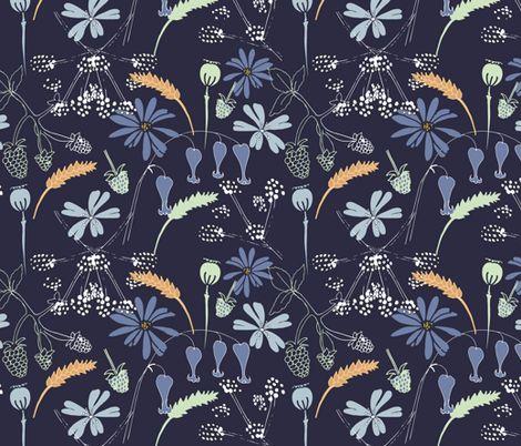 Hello Hedgerow  fabric by gemmacosgrove-ball on Spoonflower - custom fabric