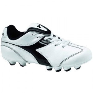 SALE - Diadora Brasil Soccer Cleats Kids White Leather - Was $49.99 - SAVE $20.00. BUY Now - ONLY $29.99