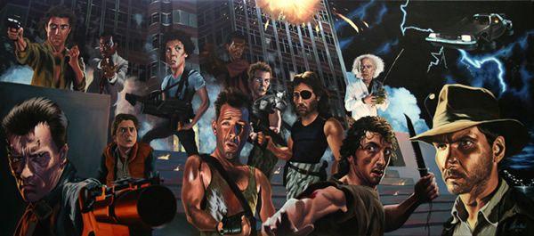 80's Action: Film, Movies Scene, Poster Frame-Black, Action Movies, 80S Action, Action Heroes, Justin Reed, Movies Poster, Heroes Art