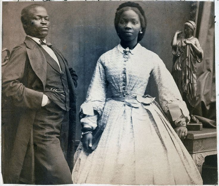 Camille Silvy  'James Pinson Labulo Davies and Sarah Forbes Bonetta (Sarah Davies)'  1862  Copyright: National Portrait Gallery, London
