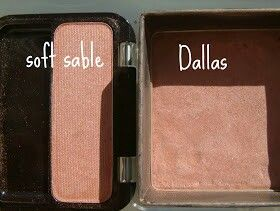 "Covergirl ""soft sable""-$6 vs Benefit ""Dallas"" $26 #makeupdupe"