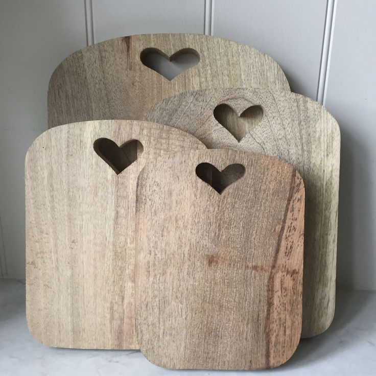 Pretty up your kitchen with these designer heart chopping boards. Made from Mango wood, they have a pretty heart cut out at the top. Why not use th...