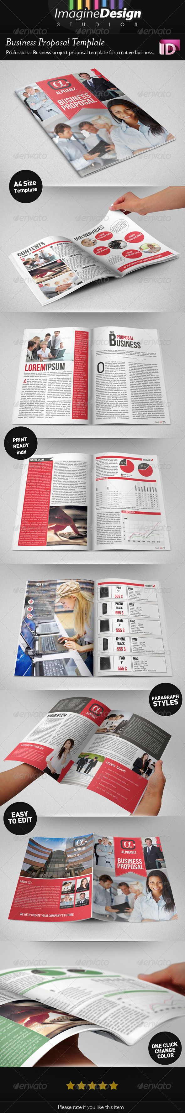 """Business Proposal Template """"AlphaBiz"""" — InDesign INDD #proposal #indd template • Available here → https://graphicriver.net/item/business-proposal-template-alphabiz/4240018?ref=pxcr"""