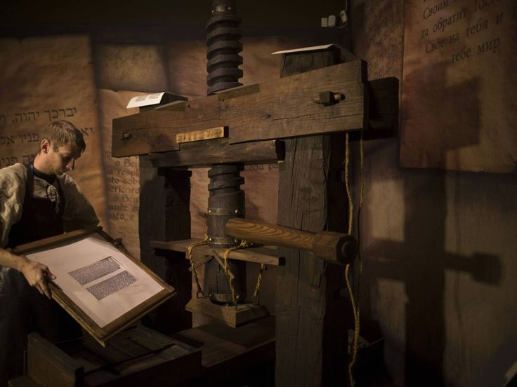 The First Printed Book Johannes Gutenberg's printing press started off the age…