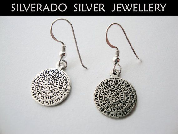 Ancient Greek Minoan Phaistos Disc Dangle by SilveradoJewellery, €18.00