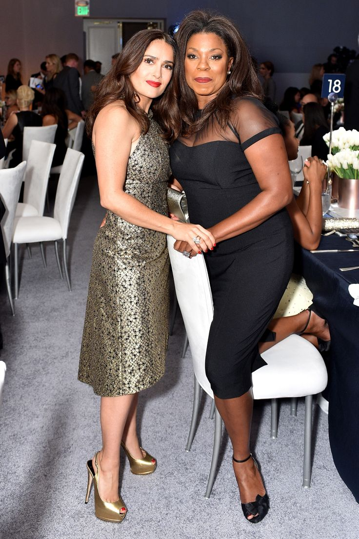 Salma Hayek et Lorraine Toussaint à la soirée Elle's Women in Hollywood