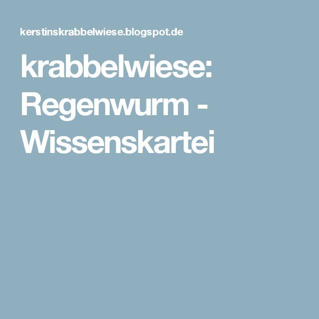 18 best Regenwürmer/Schnecken images on Pinterest   Kindergarten ...