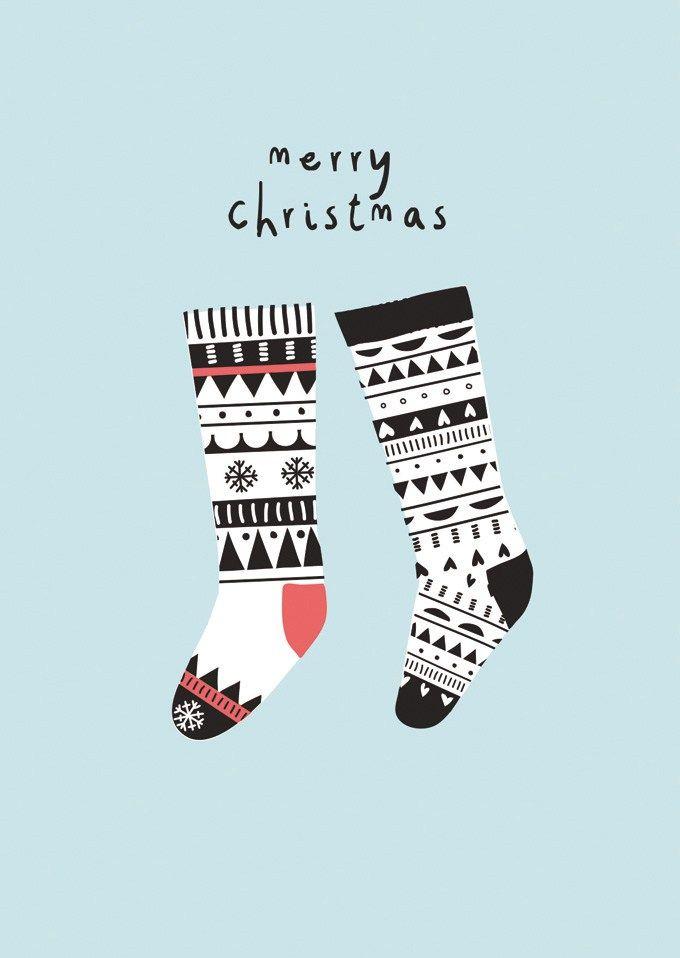 Christmastcard illustrated by @Ilseinvorm seen on HappyMakersBlog.com