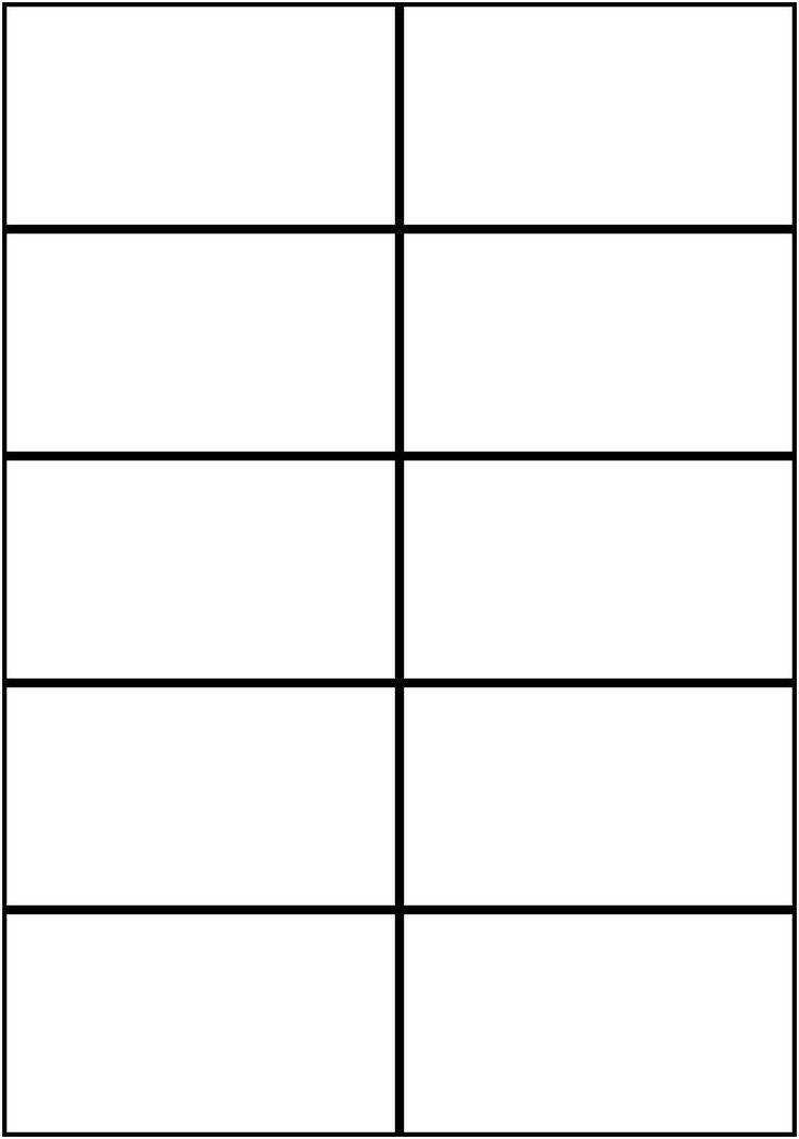 flashcard template word