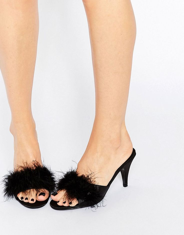 Image 1 of Ann Summers Marabou Heeled Mules