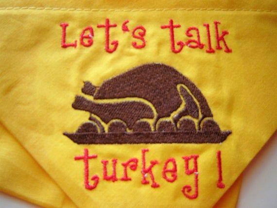 Thanksgiving Over the Collar Dog Bandana