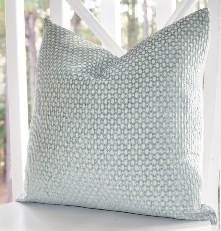 Decorative Pillow Green Blue Cover Sea Foam Water Aqua Cream Geometric Designer Pillow Throw Pillow
