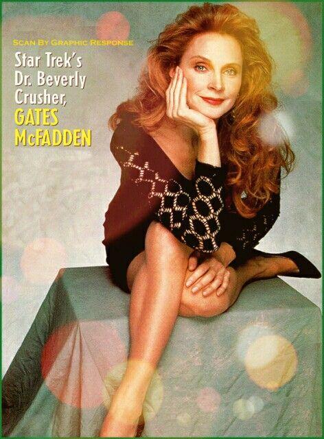 Gates McFadden #StarTrekTNG #BeverlyCrusher #GatesMcFadden