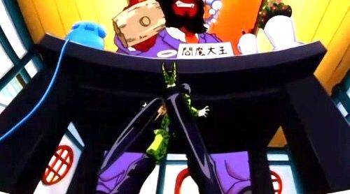 When Goku dies (the first time), he asks King Yemma, the guy in charge of the check-in station, if his brother Raditz came by. King Yemma mentions that Raditz came by and was sent down below. Goku is amazed by this since Raditz was the strongest fighter they've dealt with at that point and wants King Yemma to train him instead of King Kai, to which Kami says that King Kai is stronger. Later, after Goku reaches King Kai for training we discover that Vegeta and Nappa are stronger than King Kai…