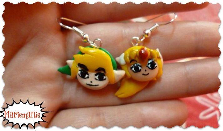 LOZ - Link & Zelda earrings