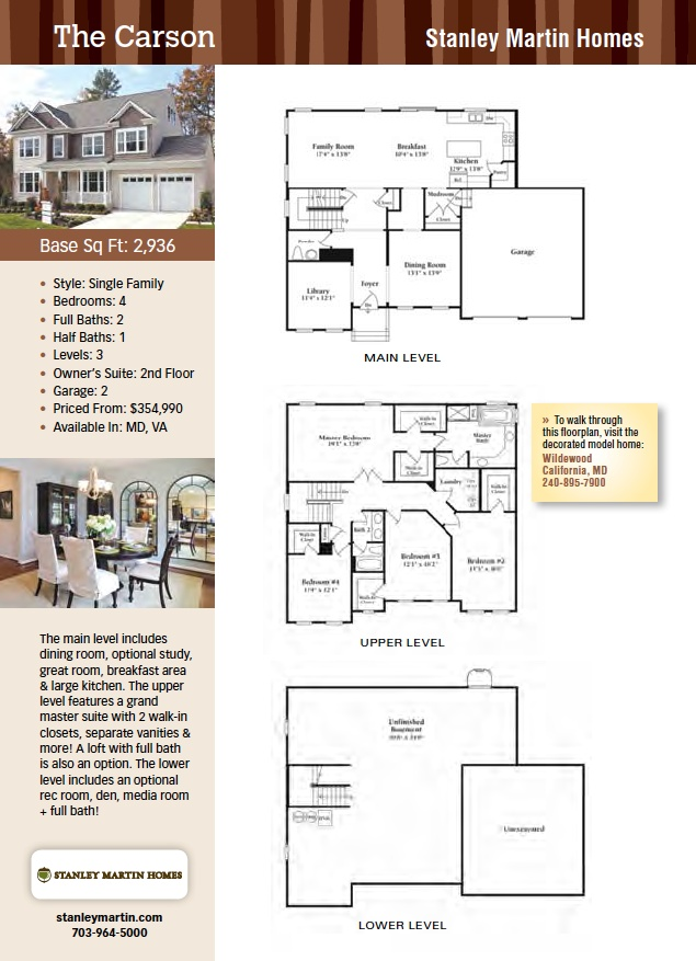 The Carson, Stanley Martin Homes, New Homes Guide