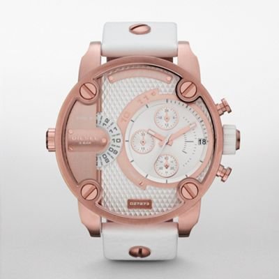 Diesel #watch #rosegold #white