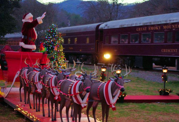 Polar Express train excursion on the Great Smoky Mountains Railroad