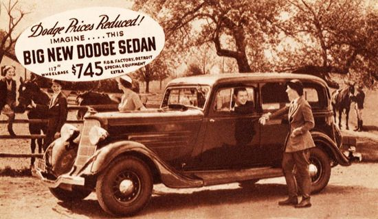 Dodge Sedan 1934 Detroit Imagine This | Mad Men Art | Vintage Ad Art Collection