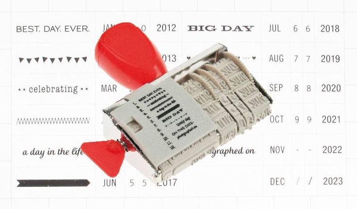 Rico Design Stempel met datum en boodschap!