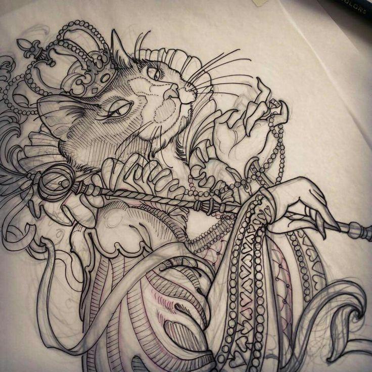 Cat Queen tattoo