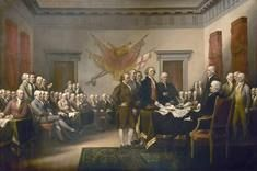 Signing the Declaration. John Trumbell painting