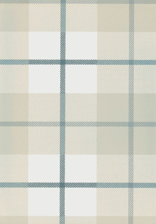 Ranold Wallpaper Tartan wallpaper in grey and off white with charcoal.