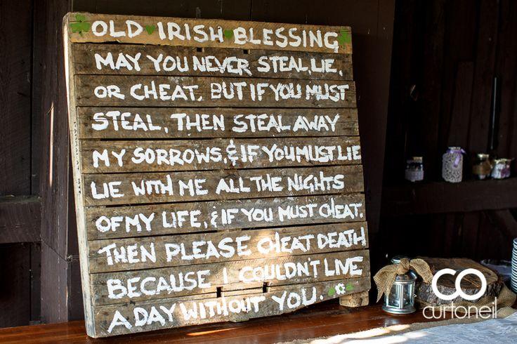 Irish Proverb to incorporate Claude's Irish heritage