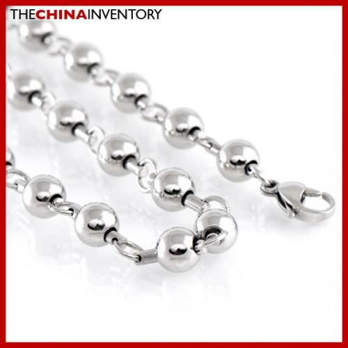 8MM 36` STAINLESS STEEL LARGE BALL CHAIN NECKLACE N1808