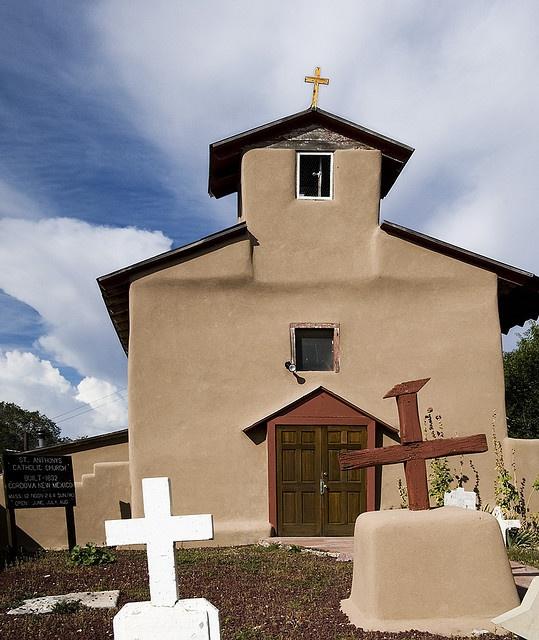 Igreja Santo Antonio de Padua, em Córdova, Novo Mexico, USA, construida em1832.