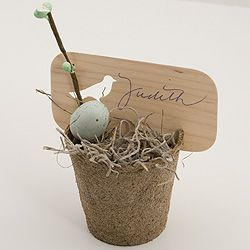 So cute. Fits in with the natural theme. Use for table numbers or maybe the bride and grooms name and wedding date.