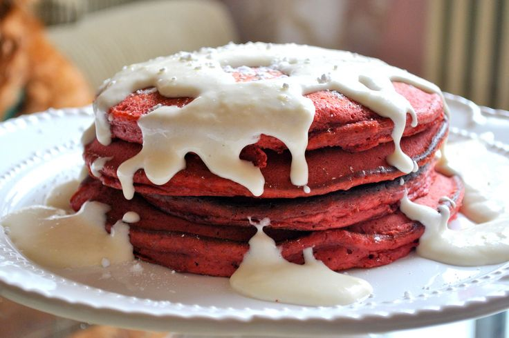 Red Velvet Pancakes | Food I may someday attempt | Pinterest