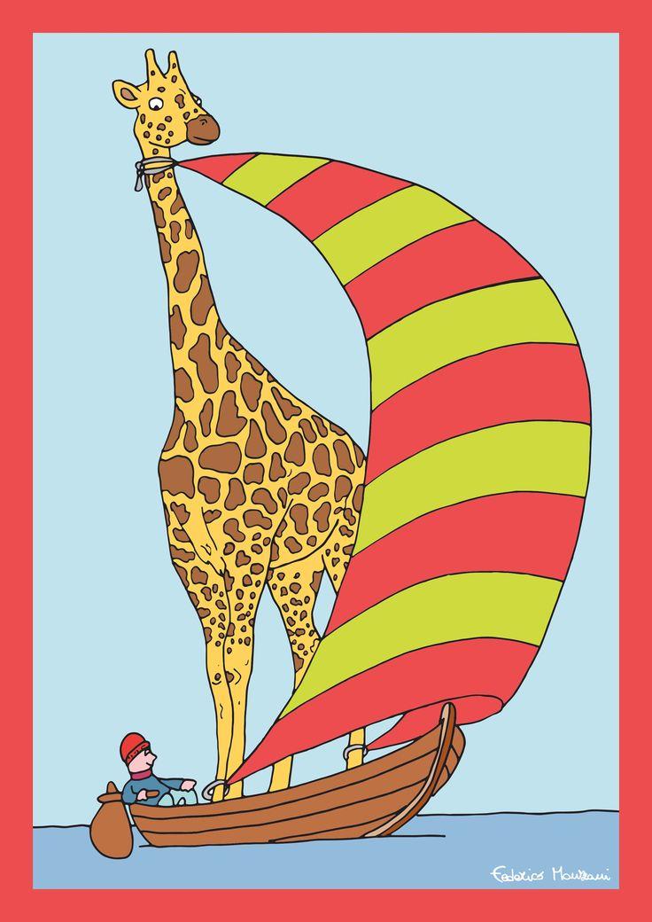 Giraffe Sail by Federico Monzani