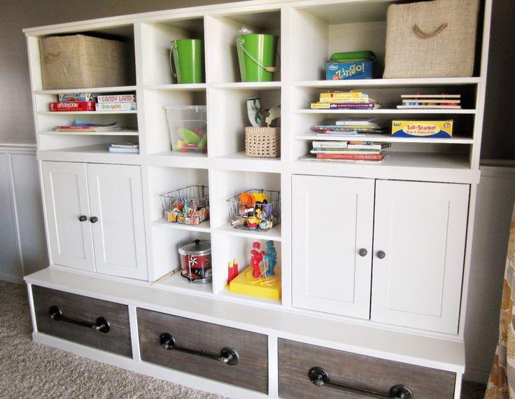 General Playroom Storage Ideas Creating A Wonderful. Playroom Storage Wall  Systems ...