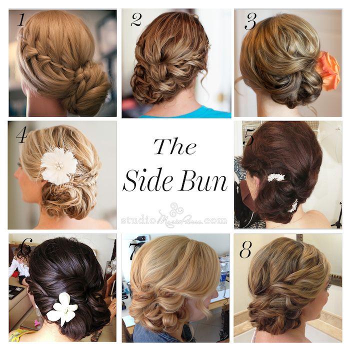 Beautiful Low Side Bun Wedding Hair Images Styles Ideas 2018